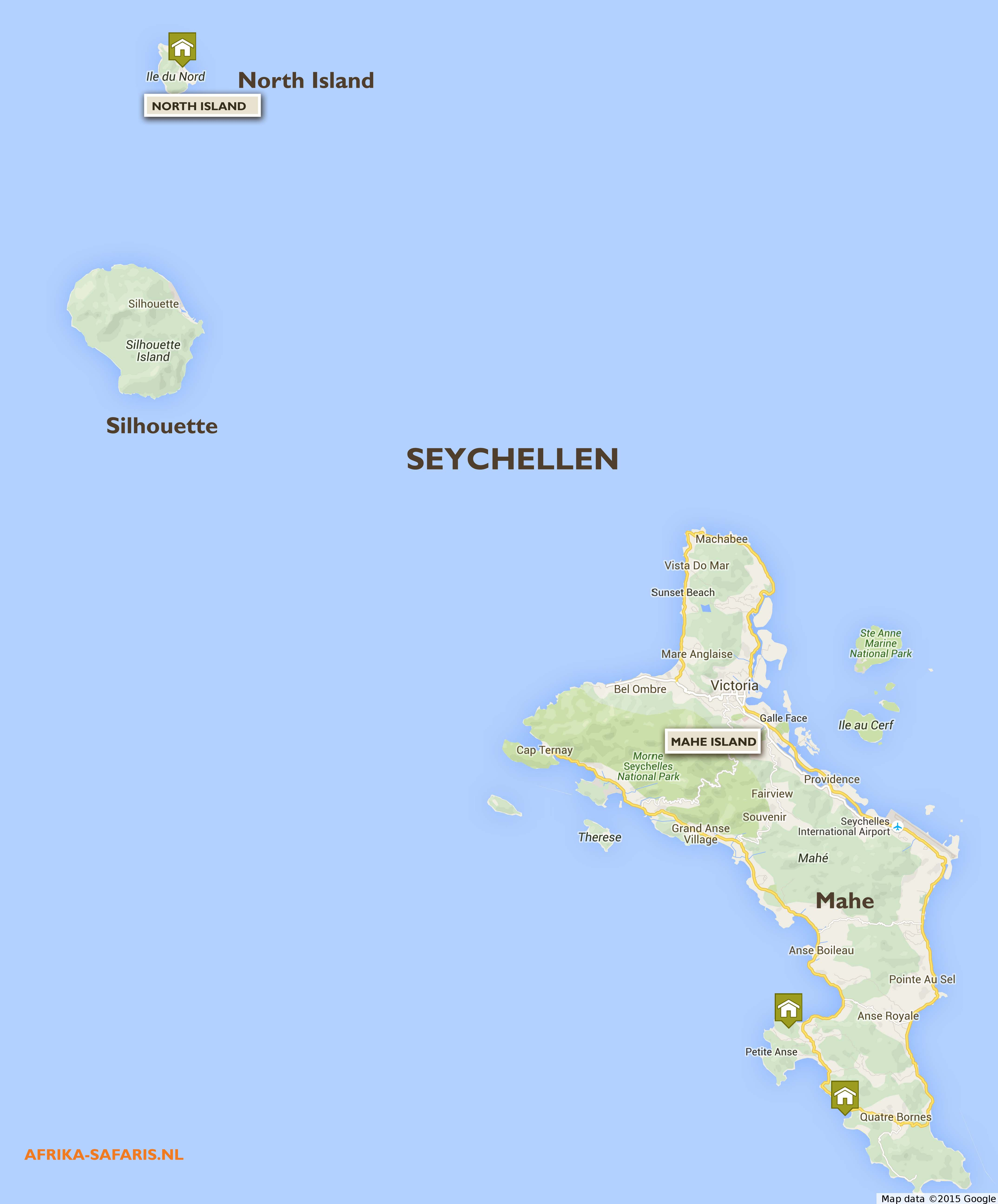 Safari accommodatie Seychellen