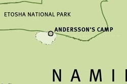 Andersson's map ©Wilderness Safaris