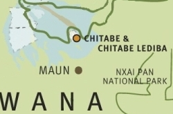 Chitabe map ©Wilderness Safaris