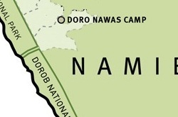 Doro !Nawas Camp map ©Wilderness Safaris