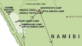 Namibia example itinerary ©Wilderness Safaris